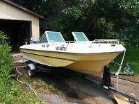 15' boat with motor & trailer