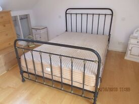Antique French Iron double bed frame