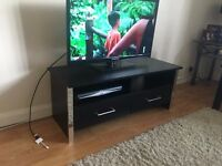 Black and chrome tv cabinet