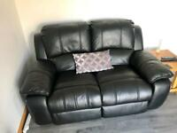 Leather Two Seater Recliner