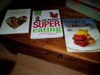 Three healthy eating books