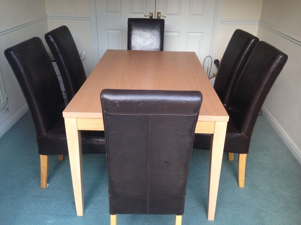 Dining table with 6 chairs in Cambridge Cambridgeshire Gumtree