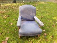 FREE to collector - Antique Library Chair for Upholstery - Crawley West Sussex