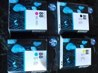 HP 88 INK CARTRIDGES X 9