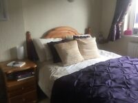 Double Bed Frame Dressing Table with mirror & Bedside Cabinet all in solid pine, will sell separate