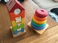 Solid wood baby children's toys