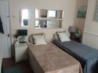 GREAT Twin room Front of Poplar Station E14 Wi-Fi C00l Flatmates, AMAZING Location, Just Refurbishe