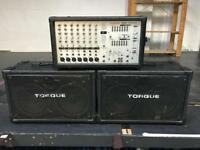 Phonic 740 Powered Mixer 2x220w Torque 60w TS263H Pa Sound System Speakers & Mic