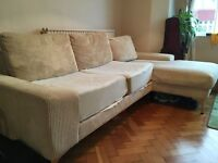 Second hand Linea beige corner sofa from House of Fraser