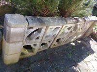 Dismantled wall bricks