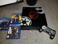 PS4 Pro - Star Wars Limited Edition + 1 Controller + 3 games