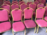 Stackable Chair (pink & Gold)