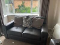 Brown leather 2 & 3 seater sofas for sale