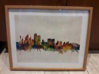 Sydney City Skyline Framed Print