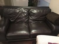 Free leather sofa - few scratches