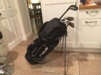Golf clubs-Beautiful matching set Driver, 3Wood, Irons, two Lob Wedges plus putter, bag, glove-balls