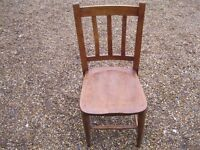 A SINGLE OLD CHAPEL CHAIR. More church / dining chairs for sale . ALSO PEWS.