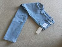 Girls H&M skinny fit style light blue jeans Brand New size 10 - 11 years