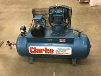 Clarke SE36C270 (WIS) Industrial Air Compressor (400V) Blue Line