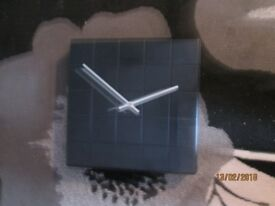 SQUARE BLACK CHUNKY WALL CLOCK ARGOS COLOUR WORKS WOULD LOOK GREAT IN ANY ROOM