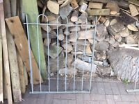 2 Galvanised Garden Gates & 5 Galvanised Railing Fence Panels