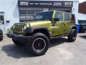 2007 Jeep Wrangler Unlimited X, 2 Tops, 35 New tires & Mags, Aut