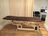 Treatment Massage couch hydraulic plinth for sale- North London