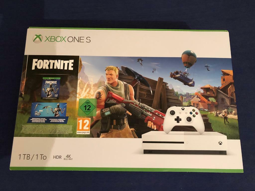 Xbox One S 1TB Fortnite Console with Eon Cosmetic Set & 2000 V-Bucks | in  Romford, London | Gumtree