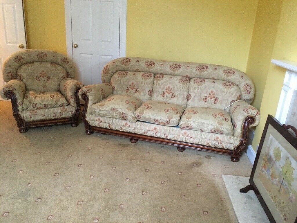 Admirable Antique 3 Piece Suite One Sofa Two Chairs In Aberdeen Short Links Chair Design For Home Short Linksinfo
