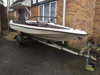 SPEED BOAT with Suzuki outboard. Ready to tow away today! BARGAIN