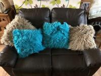 2&3 seater brown recliner sofas