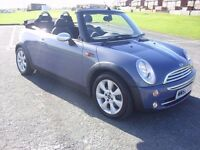 MINI ONE CONVERTIBLE 1.6i,PEPPER PACK,55 PLATE,3 LADY OWNERS,83K WITH FDSH,12MTHS MOT,LOVELY EXAMPLE