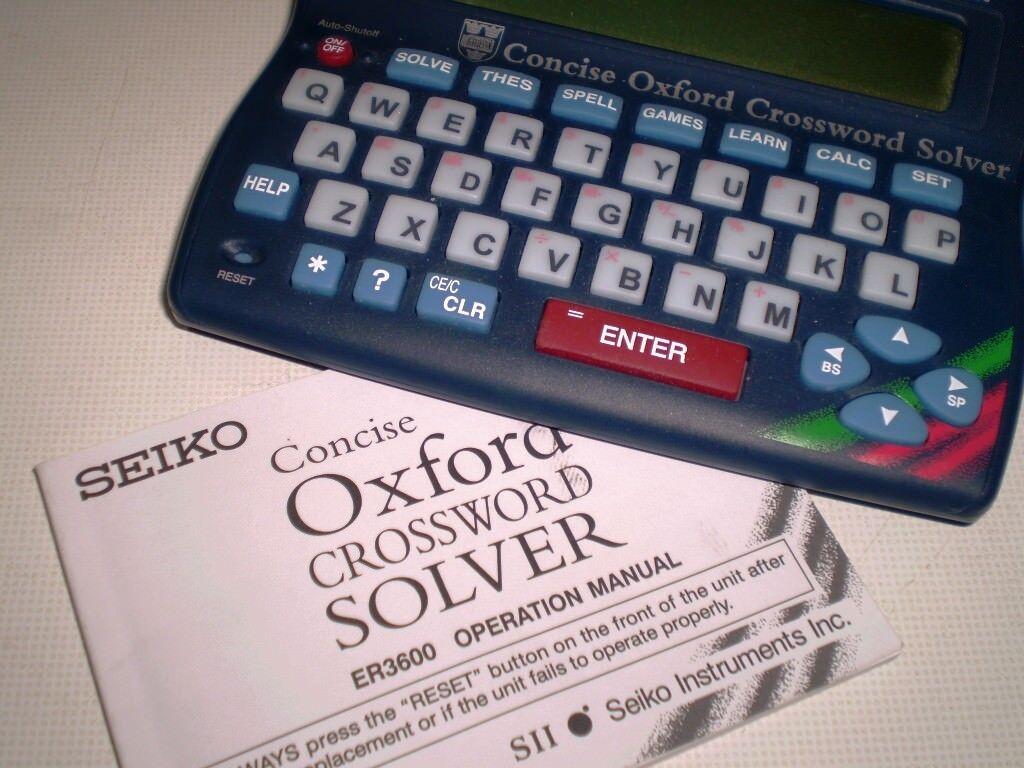 Crossword solver/Thesaurus SEIKO ER 3600