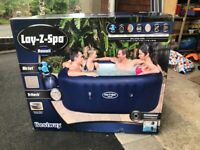 Lay Z Spa Hawaii 6 Person Square Inflatable Hot Tub