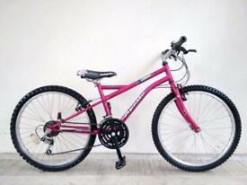 """(3010) 24"""" APOLLO ZODIAC GIRLS MOUNTAIN FULL RIGID HYBRID BIKE BICYCLE Age: 8-11, Height: 130-145 cm"""