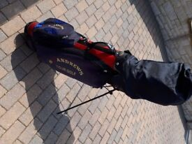 Full set of St Andrews Golf clubs.