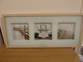 Light effect frame with three picture scenes picture