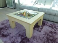 Coffee Table. Square with glass top