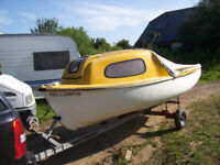 16ft GRP CABIN BOAT WITH A TRAILER AND OUTBOARD