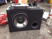 Fusion subwoofer and amp bargin