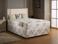 """""""Now 20% Off"""" -- Double DIvan Base With Super Orthopaedic Mattress -- Same Day Free Delivery"""