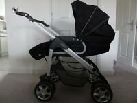 Silver Cross Freeway Pram Travel System with Matching Car Seat and ISOfix