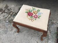 Embroidered Piano Stool