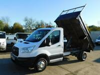 FORD TRANSIT 2.2TDCI DOUBLE CAB T350 TIPPER 100PS WITH TOW BAR+MORE