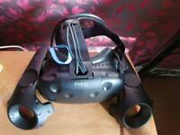 Mint Condition HTC VIVE Virtual Reality + 2 station stands.