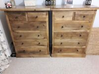 Hand Made Solid Mango Hardwood Rustic King Size Bed and bedroom furniture