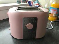 Retro pink toaster