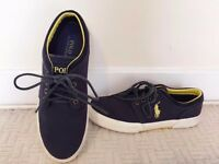 Authentic Designer *Ralph Lauren* Canvas Navy Blue Shoes, Size:UK7/Eur41