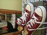 converse pumps burgundy red colour clean condition