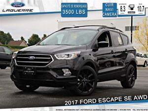 2017 Ford Escape SE**CUIR*AWD*BLUETOOTH*NAVI*CAMERA*A/C 2 ZONES*